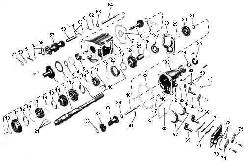 Showassembly furthermore Jeep Transmission T 176 Shifter in addition Mump 1101 Service Ford Mustang C4 Transmissions together with Borg Warner T5 Transmission Shifter together with T56 Parts Diagram. on tremec transmissions diagram